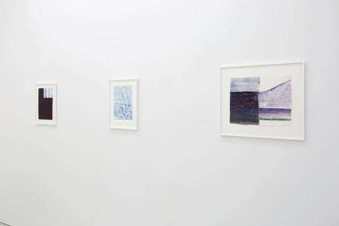 Installation view. Works by John Zurier.