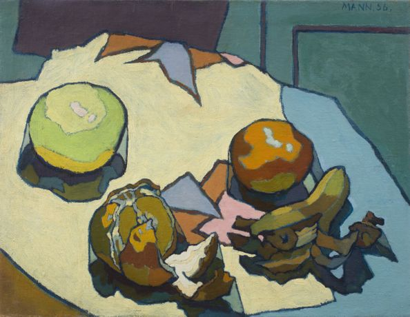 Cyril Mann, Still Life with Fruit, 1956, Oil on canvas, 35.8 x 45.5cm