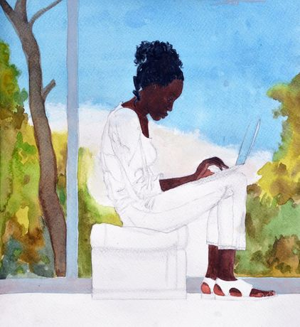 'Daddy I want to be a black artist' by Kimathi Donkor: Image 0