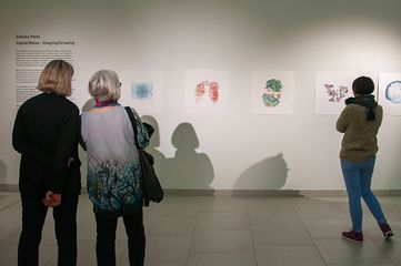 Installation view of Signal / Noise: Imaging / Drawing