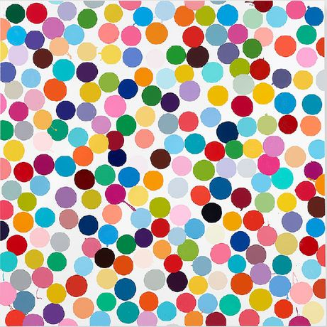 Damien Hirst, Manganese, 2016, household gloss on canvas, 59 × 59 inches (149.9 × 149.9 cm) © Damien Hirst and Science Ltd. All rights reserved, DACS 2018