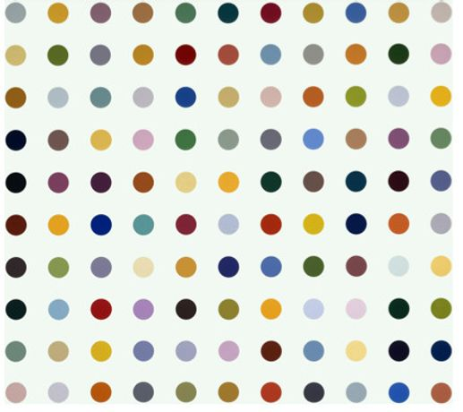 Damien Hirst »Sulfisoxazol« 2007 Varnish on canvas