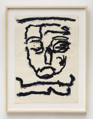 Dan Asher, Untitled, 1980s, oil stick on paper, 26 × 19 in.