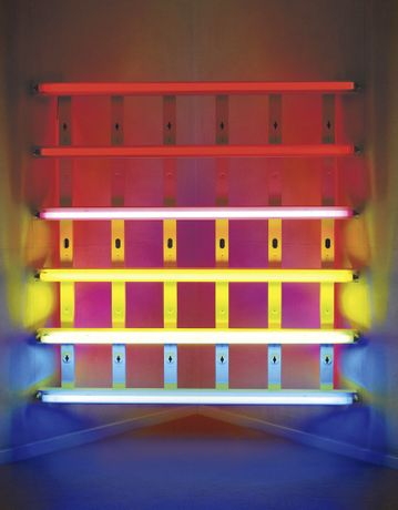 Dan Flavin »Untitled (for Leo Castelli at his Gallery's 30th Anniversary) 3« 1989 © 2015 Estate of Dan Flavin / Artists Rights Society (ARS), New York