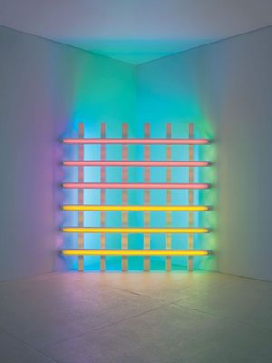 Dan Flavin, untitled (in honor of Harold Joachim) 3 (1977), © 2015 Stephen FlavinArtists Rights Society (ARS), New York; courtesy of David Zwirner, New York, London