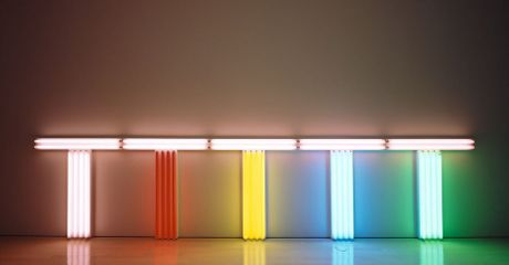 Dan Flavin, Untitled (to Don Judd, colorist 1-5), 1987 Photograph by David Heald