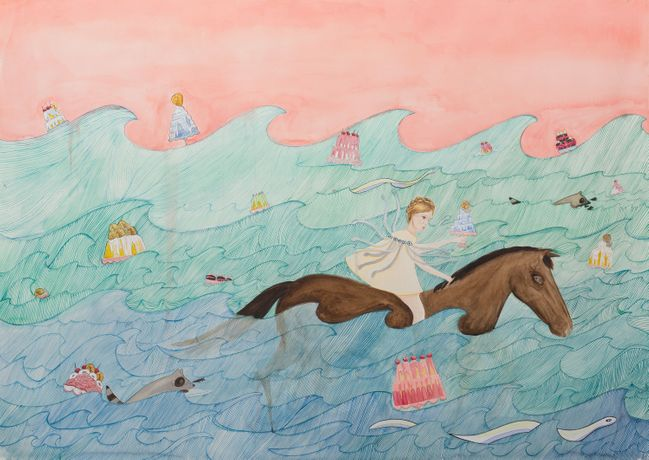 Dana Sherwood,  Seas of Cake and Horses, 2019