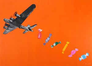 Joe Webb, 'Candy Bomber (Orange)