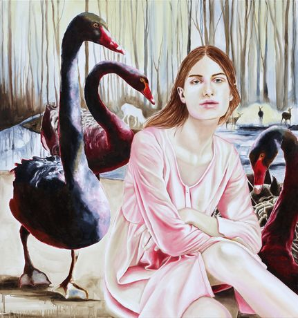 Anna Borowy Darkest Birds 160 x 150 cm oil on canvas 2017