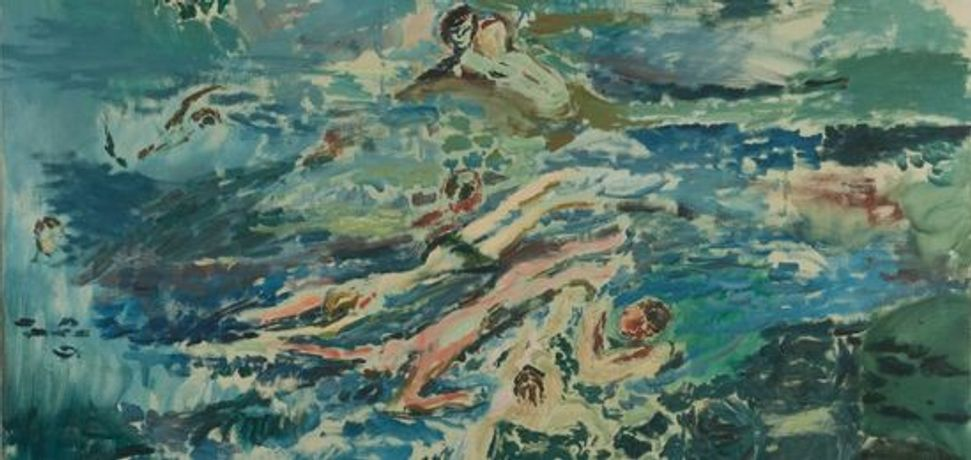 Jeffery Camp, Swimming, 1959 © Jeffery Camp. Image courtesy The Jerwood Collection