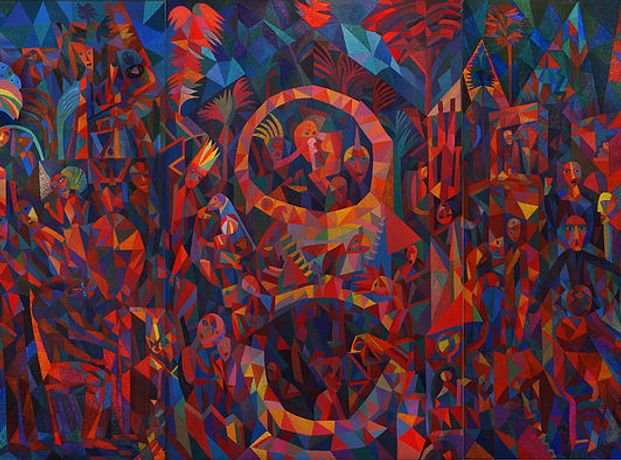 Dave Pearson, Tempest, oil on canvas c.1989. Image courtesy the Dave Pearson Studio