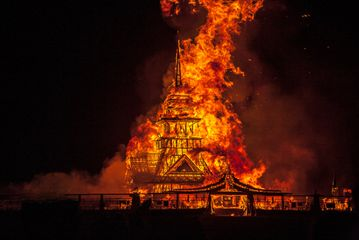 Temple of Juno, David Best and the Temple Crew, Burning Man 2012, photo by  Philip Volkers