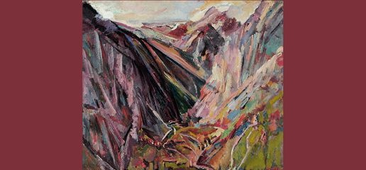 David Bomberg, Valley of La Hermida Picos de Europa, Asturias, Spain, 1935. Image courtesy Museums Sheffield. © The Estate of David Bomberg. All Rights Reserved, DACS 2016