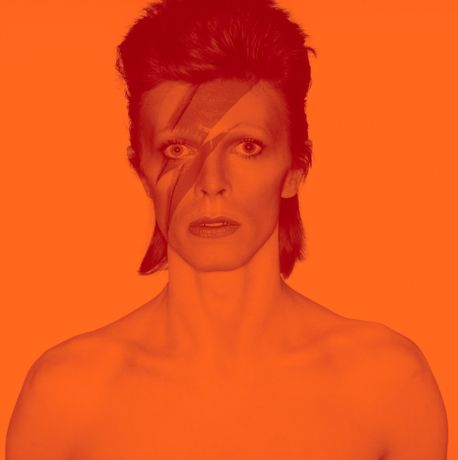 Photograph from the album cover shoot for Aladdin Sane, 1973. Photograph by Brian Duffy. Photo Duffy © Duffy Archive & The David Bowie Archive