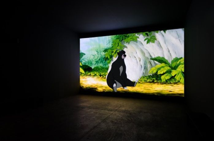 David Claerbout, The Pure Necessity, 2017. Single channel projection, 2D-Animation, 50 Minuten. Installation view, Unlimited Basel 2017 presented by Gallery Sean Kelly, New York and Gallery Esther Schipper, Berlin. Photo: Andrea Rosetti  Courtesy of Gallery Esther Schipper, Berlin.