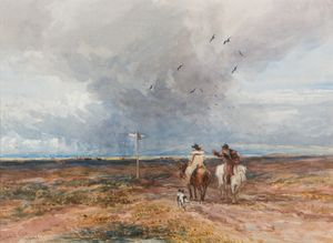 David Cox The Crossroad 1847 © Worcester City Collection