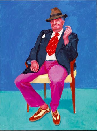 David Hockney, Barry Humphries, 26th, 27th, 28th March 2015 from 82 Portraits and 1 Still-life, 2015, courtesy of the artist, © David Hockney, photo by Richard Schmidt