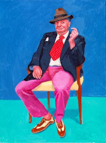 Barry Humphries, 26th, 27th, 28th March 2015 from 82 Portraits and 1 Still-life Acrylic on canvas (one of an 82-part work) 48 x 36 inches © David Hockney Photo Credit: Richard Schmidt