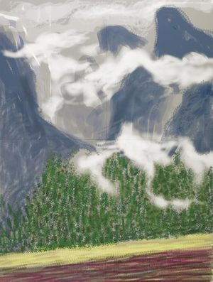 David Hockney, Yosemite II, October 5th 2011 (2011)