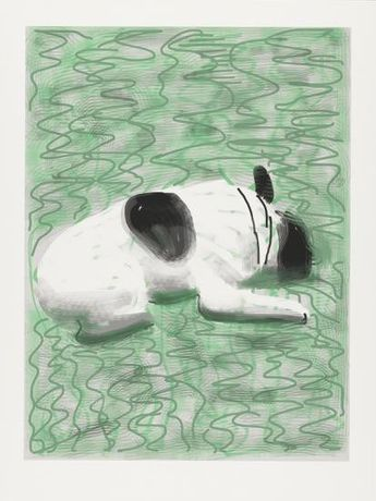 David Hockney Moujik (2010) iPad drawing printed on paper, edition of 25