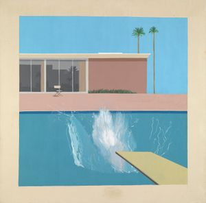 David Hockney (British, born 1937). A Bigger Splash (detail), 1967. Acrylic on canvas. Tate, purchased 1981. © David Hockney. Photo © Tate, London, 2017
