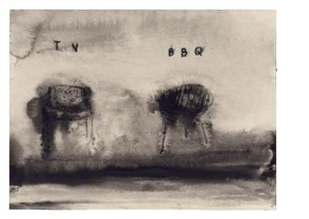Image © David Lynch, TV BBQ, 2009. Watercolour. Courtesy of the artist and Kayne Griffin Corcoran, Los Angeles. Photography: Brian Forrest.