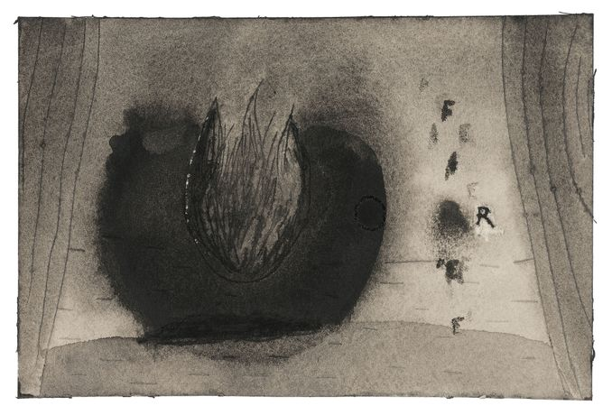 Image © David Lynch, Fire (3), undated. Watercolour. Courtesy of the artist and Kayne Griffin Corcoran, Los Angeles. Photography: Brian Forrest.
