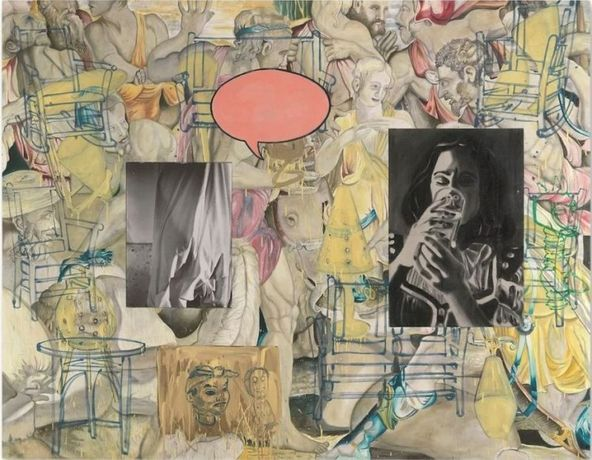 David Salle, Mingus in Mexico, 1990