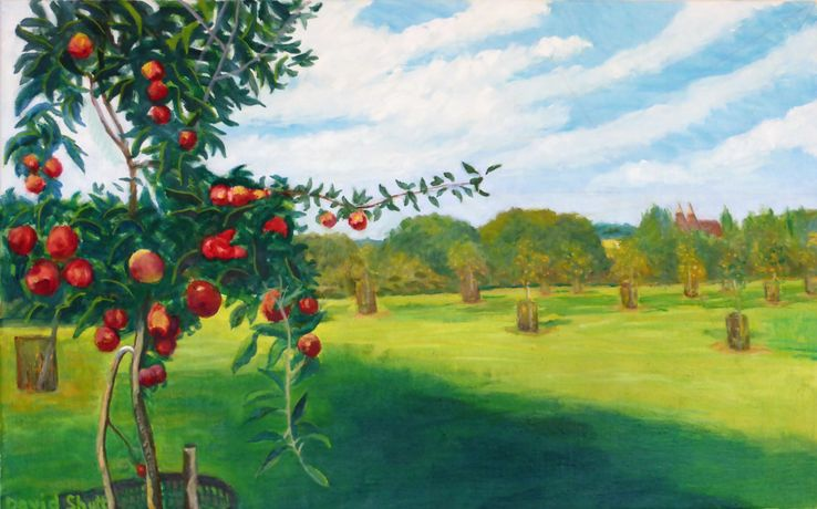 David Shutt (b.1945) 'Newly Planted Orchard'