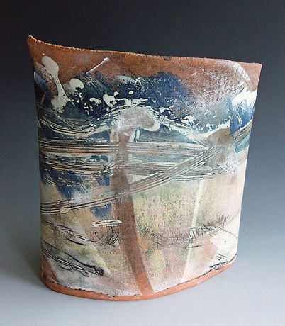 Windswept Shore. Ceramics by Dennis Farrell.