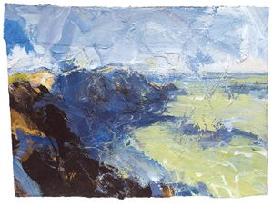 Landfall, St.Gwyndaf. Paintings by David Tress