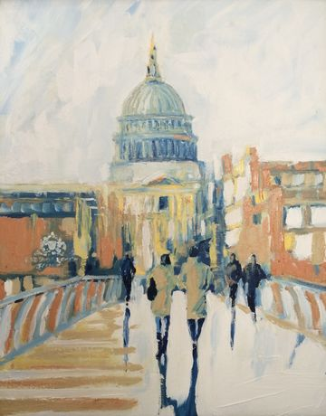 'St. Pauls', Richard Gower, Oil on Canvas