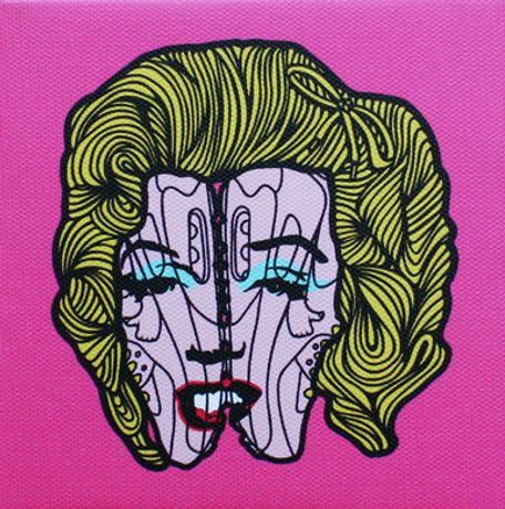'Marilyn in the 90s', PINS, Signed Giclee on Canvas Edition, Edition of 100