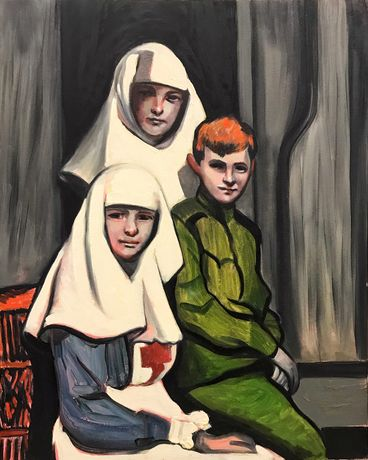 THE TSAREVICH WITH HIS SISTERS BY FRASER CRAWFORD