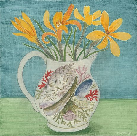 Shell Cup and Crocus by Debbie George