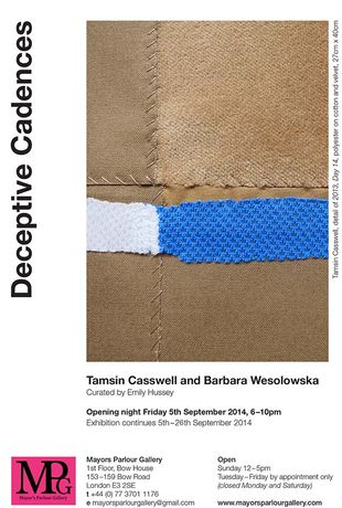 Deceptive Cadences by Tamsin Casswell, Barbara Wesolowska curated by Emily Hussey: Image 0