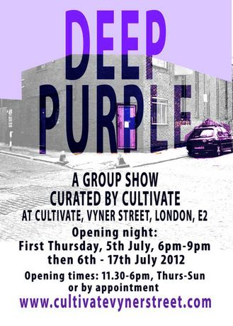 DEEP PURPLE - A GROUP SHOW @ CULTIVATE, VYNER STREET: Image 0