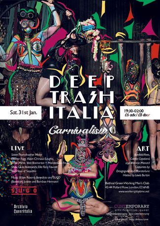 Haus of Sequana for Deep Trash Italia flyer. Photo Anthony Lycett.