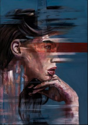 'DEEPER UNDERSTANDING' paintings by Stefanie Trow