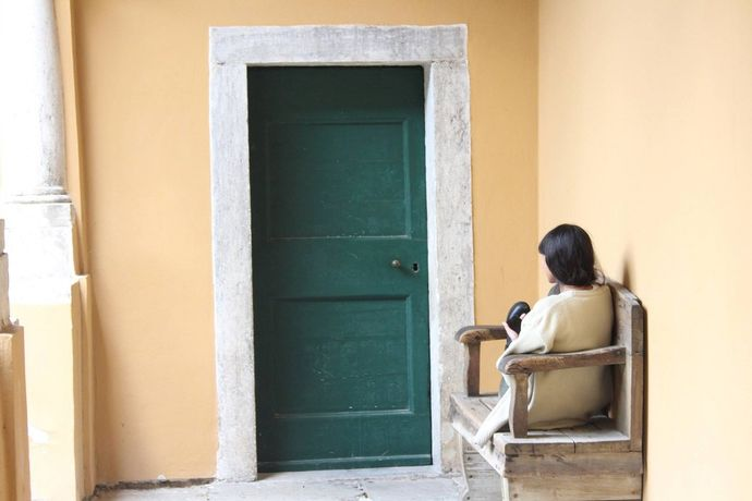 Qila awaits for a new door to open. filmpro lates present 'Define Me', Thursday 4 June 2015. Photo Credit: Julie Pasture