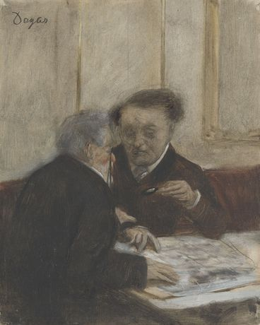 Detail from Hilaire-Germain-Edgar Degas, At the Café de Châteaudun, about 1869–71. The National Gallery, London.