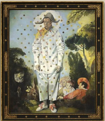 Wolfe von Lenkiewicz Pierrot, 2014, Oil on canvas, 184 x 149 cm (72.4 x 58.6 in)