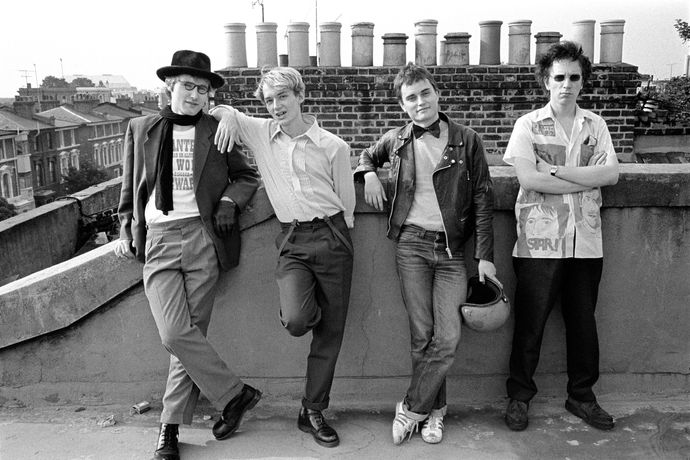 Group image of the band on the roof of John Lydon's home in Gunter Grove (1978) All images © Dennis Morris - all rights reserved