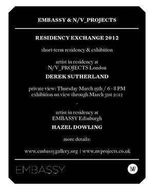 DEREK SUTHERLAND - EMBASSY RESIDENCY EXCHANGE EXHIBITION
