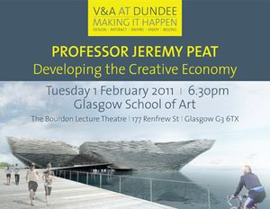Developing the Creative Economy  l Professor Jeremy Peat FRSE  |  Director  |  The David Hume Institute