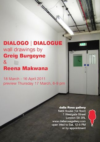 DIALOGO | DIALOGUE: wall drawings by Greig Burgoyne and Reena Makwana: Image 0