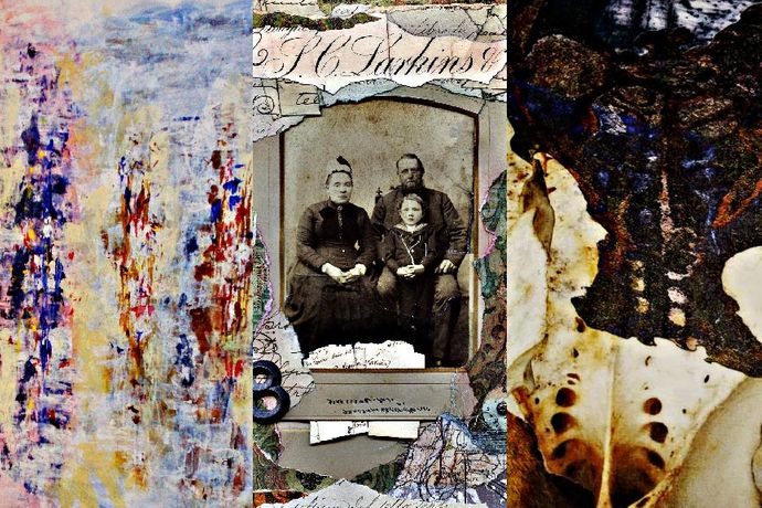 DICK BARNARD-Fine Art Painter : KIM LOGAN Mixed Media Collage Artist-:LAURA PYMER-Textile Artist: Image 0