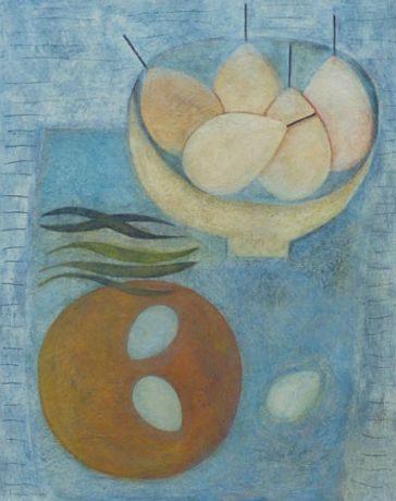 Vivienne Williams- Blue Bowl with Apples