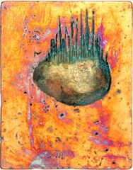 Breathe VL breathe etched on copper plate