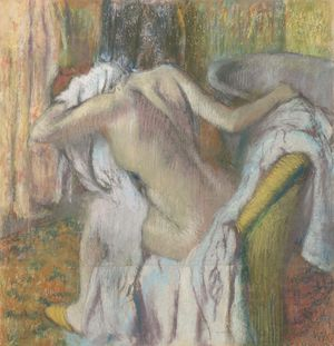 Hilaire-Germain-Edgar Degas. After the Bath, Woman drying herself, about 1890–5.